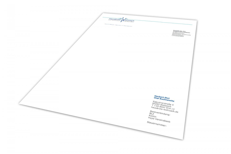 Hausärzte-Wolnzach Biefpapier